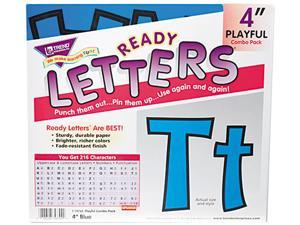 Trend Enterprises TEP79744 Pin-up Ready Letters- 4in.- Pre-punched- Blue
