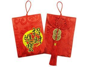 Multifunction Red Envelope with Embroidery & Tissue Pouch with Chinese Bamboo design