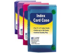 C LINE 3X5 INDEX CARD CASE