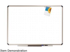 Quartet P564T Euro Frame Dry-Erase Board  Porcelain/Steel  48 x 36  White/Aluminum Frame