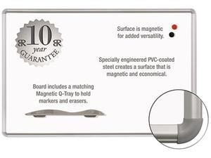 Balt 219PG Mange-Rite Magnetic Dry Erase Board  72 x 48  White  Silver Frame
