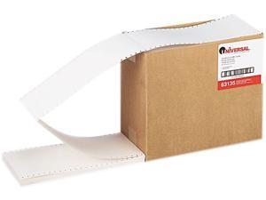 Universal 63135 Continuous Unruled Index Cards  3 x 5  White  4000 per Carton