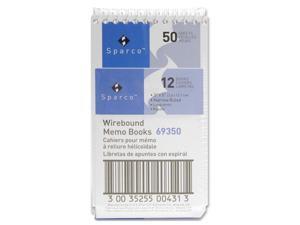 "Wirebound Memo Book End Spiral 50 Sheets 3""x5"" White"