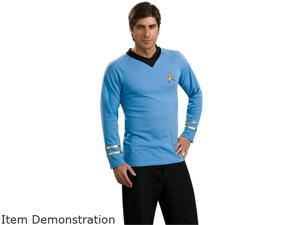 Rubies Costume Co R888983-L Star Trek Classic Adult Deluxe Blue Shirt Size Large