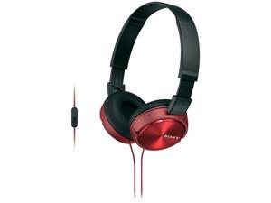 Sony Mdrzx310ap/r Zx Series Over-ear Headphones With Microphone (red)