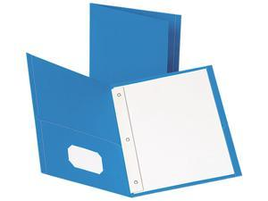 Esselte Pendaflex 57701 Paper Twin-Pocket Portfolio  Tang Fasteners  Letter  1/2   Capacity  Blue  25/Box