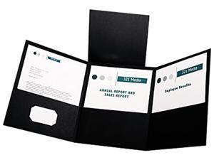 Esselte Pendaflex 59806 Tri-Fold Folder With 3 Pockets  Holds 150 Letter-Size Sheets  Black