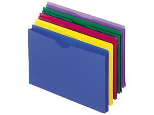 Esselte Pendaflex 50993 Expanding File Jackets  Lgl  Poly  BL/GR/Purple/Red/YW  5/pk