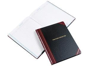 Esselte Pendaflex 806 Visitor Register Book  BLK/RD Hardcover  150 Pgs  14-1/8 x 10-7/8