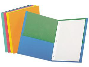 Esselte Pendaflex Corporation ESS55776 Twin Pocket Portfolio- w-Fasteners- 11in.x8-.50in.- 50-DS- Asst.