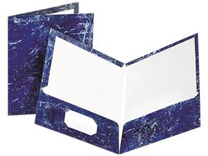 Tops Pendaflex 51643 Marble Laminated Portfolio  High Gloss  Laminated Paper  Navy