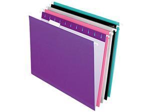 Tops Pendaflex 415215ASST2 Reinforced Hanging Folders  Kraft  Letter  Pastel Colors  25/Box