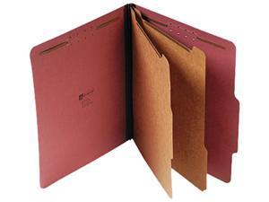 Universal 10270 Pressboard Classification Folder  Letter  6-Section  Red