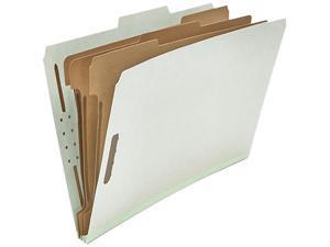 Universal 10297 Pressboard Classification Folder  Legal  8-Section  Gray