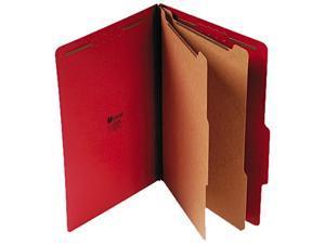 Universal 10313 Pressboard Classification Folders  Legal  6-Section  Ruby Red  10/box
