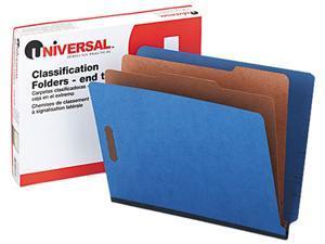 Universal 10318 Pressboard End Tab Classification Folders  Ltr  6-Section  BE  10/box
