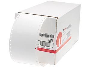 Universal 70110 1-Across Dot Matrix Printer Labels  3-1/2 x 1-15/16  White  5000 per Box