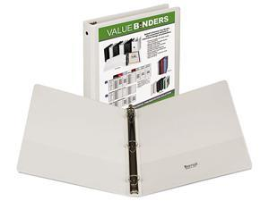 "Samsill 18537 Value Insertable Presentation Binder- 8-1/2 x 11- 1"" Capacity- White"
