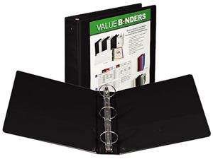 "Samsill 18560 Value Insertable Presentation Binder- 8-1/2 x 11- 2"" Capacity- Black"