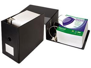 """Samsill 16320 Clean Touch Antimicrobial Locking D-Ring Binder- 11 x 8 1/2- 6"""" Capacity- Black"""