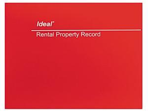 Dome M2512 Rental Property Record  8-1/2 x 11  60-Page Wirebound Book