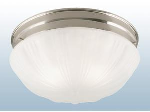 Westinghouse Brushed Nickel Two Light Flush Mount Fluted Dome Glass Ceiling Fixture
