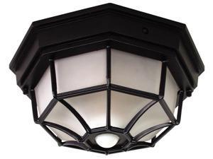 Heathco Black 4 Bulb 25 Watt Black Candelabra DualBrite Energy Saving 2-Level Ceiling Lite