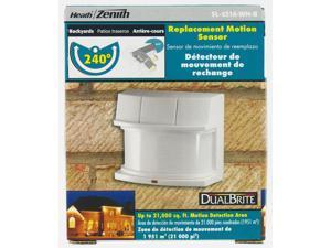 Heath-Zenith Deluxe Replacement Motion Sensor, White (SL-5316-WH)