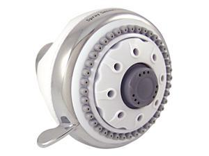 Plumb Craft Waxman 8684500 White And Chrome SpraySensations® HydroSpin™ Fixed Showerhead