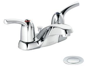 "Moen CA84403 4"" Centerset Touch Control Two Handle Low Arc Lavatory Faucet"