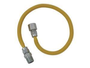 "Cobra Plumbing CSSL54-48P 48"" Stainless Steel Gas Dryer Connector"