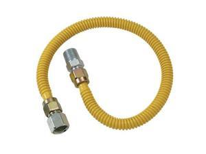 """Cobra Plumbing CSSD54-48P 48"""" Stainless Steel Gas Heater Connector"""