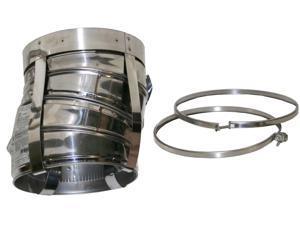 """Selkirk Metalbestos 6T-EL15KIT 6 """" Stainless Steel Insulated 15º Elbow Kit"""