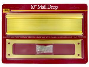 Slot Drp Mail 10In 2-1/2In Al M-D Building Products Mail Slots 28787 Aluminum
