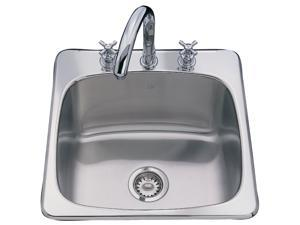 """Kindred SL103BX 10"""" Stainless Steel Single Sink Bowl"""