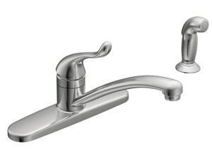 1H Kitchen Faucet W Spray Chrm MOEN INC Moen Kitchen Single Handle CA87530