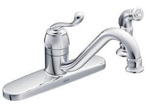 MOEN CA87520 Muirfield One Handle Low Arc Kitchen Faucet Chrome