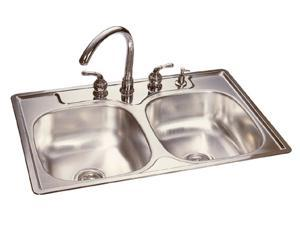 FHP FDG704N Stainless Steel Double Bowl Kitchen Sink