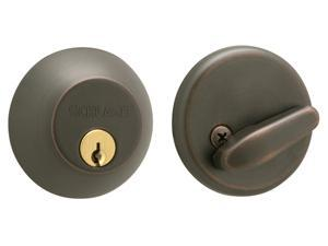 Schlage B60NV716 Aged Bronze Single Cylinder Deadbolt Maximum Security