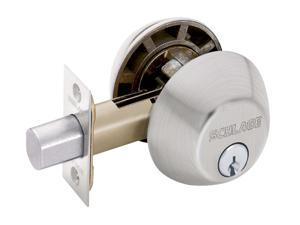 Schlage B62NV619 Satin Nickel Double Cylinder Deadbolt