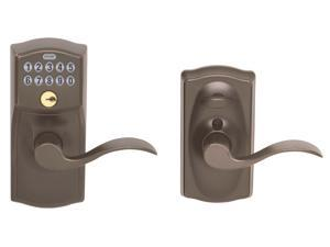Schlage FE595VCAM716ACC Aged Bronze Accent Entry Lever Keypad Lock