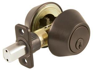Ultra Hardware 43453 Oil Rubbed Bronze Single Cylinder Deadbolt Entry Lock