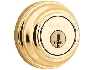 Kwikset 980 3 SMT CP 980 Single Cylinder Deadbolt feat SmartKey in Polished Brass