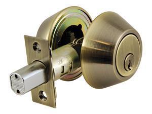 Ultra Hardware 43720 Antique Brass Double Cylinder Deadbolt Lockset