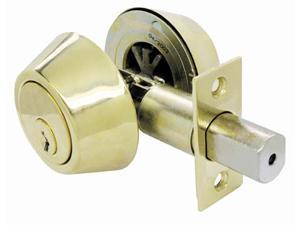 Ultra Hardware 43968 Polished Brass Deadbolt Ultra Security Series
