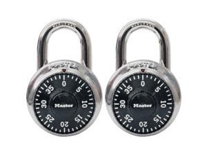 Master Lock 1500T 2 Pack Black Combination Padlocks