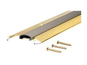 """MD 09043 36"""" Bright Gold Low Boy Thresholds With Vinyl Seal Aluminum"""