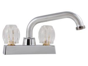Double Handle Laundry Faucet, Chrome LDR Kitchen Faucets 115200 Chrome Plated