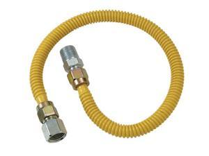 """Cobra Plumbing CSSD54-36P 36"""" Stainless Steel Gas Heater Connector"""