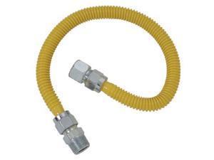 "Cobra Plumbing CSSC54-48P 48"" Stainless Steel Gas Range Connector"